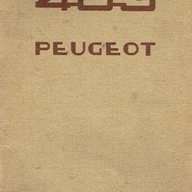 PEUGEOT 403  Maintenance Manual  -  Manuel d'utilisateur