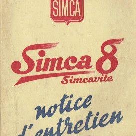 Notice d'Entretien SIMCA 8  Simcavite