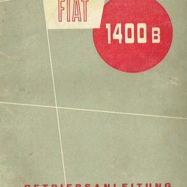 Betriebsanleitung  FIAT 1400 B