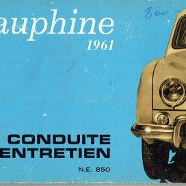 Conduite et Entretien Renault Dauphine