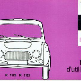 Notice d'utilisation Renault  R3 R4 R4L